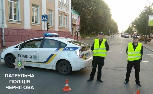 Черниговские патрульные сопровождали велоколону , фото-6