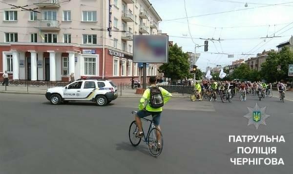 Черниговские патрульные сопровождали велоколону , фото-7