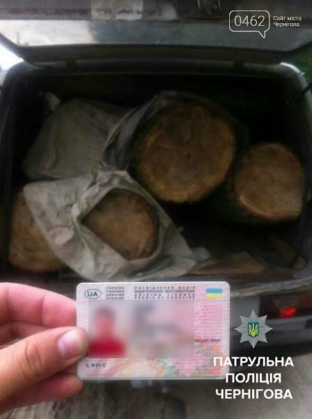 Черниговские патрульные задержали браконьера с незаконным лесом, фото-2