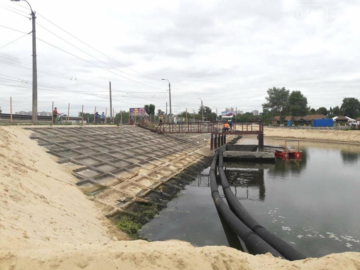 На Стрижне спустили воду и начинают разбирать дамбу, фото-10
