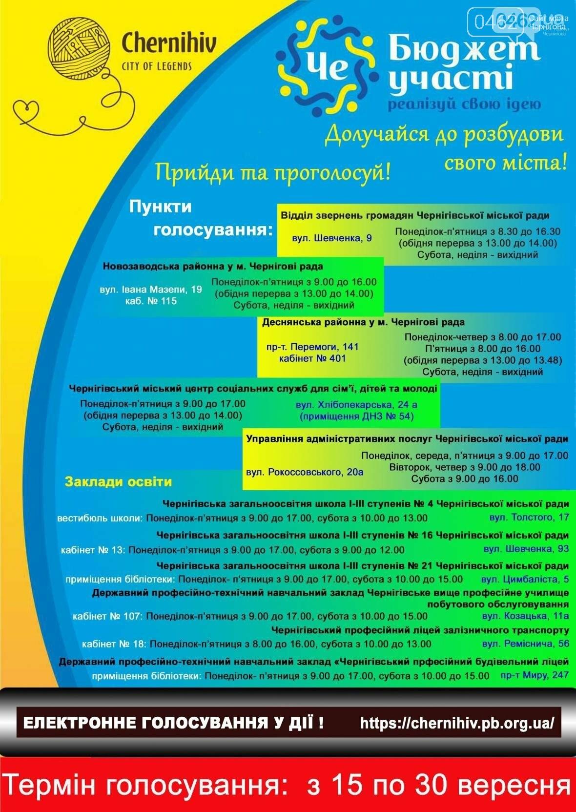 Какие идеи черниговцев будут реализованы? Уже можно голосовать!, фото-1