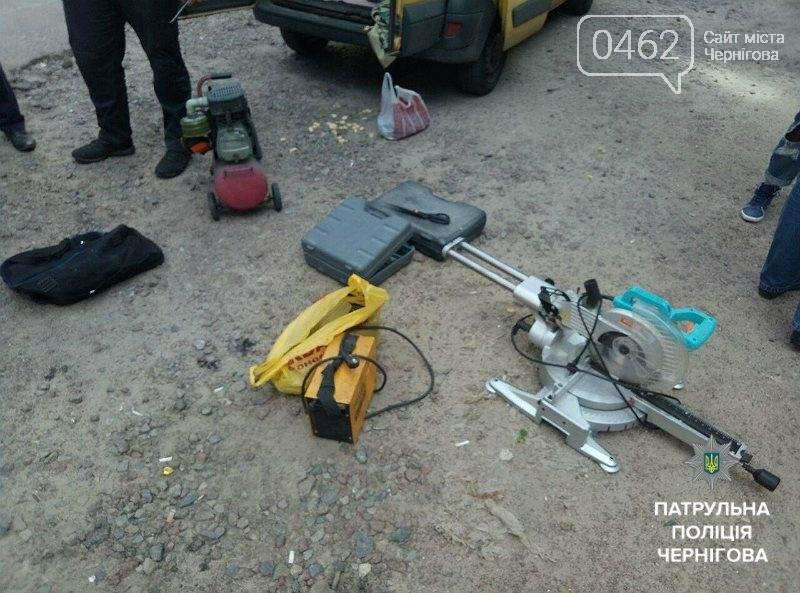 В Чернигове трое грабителей попались в такси при перевозке краденного, фото-3