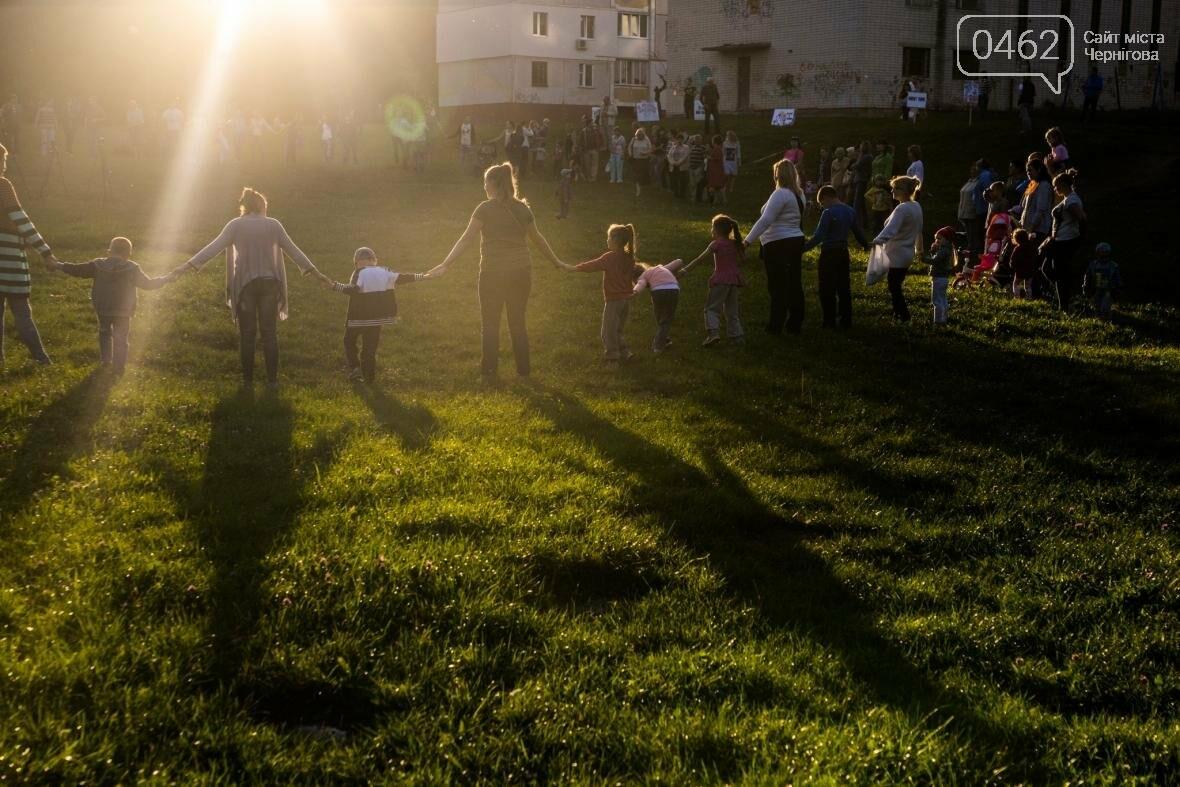 Черниговцы создали защитный круг для Березовой рощи , фото-6