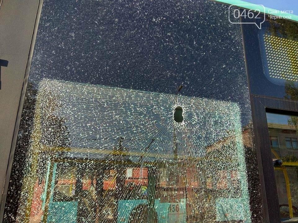Вандалы разбили в Чернигове новые троллейбусы, фото-6