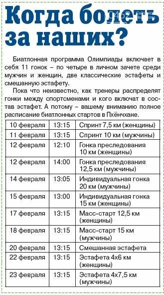 Черниговцы на Олимпиаде. Расписание и досье, фото-5