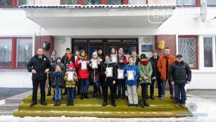 """Черниговская полиция поставила """"сложных"""" детей на лыжи, фото-4"""