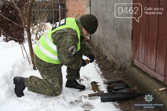 На Черниговщине полиция изъяла у мужчины арсенал боеприпасов и оружия, фото-1