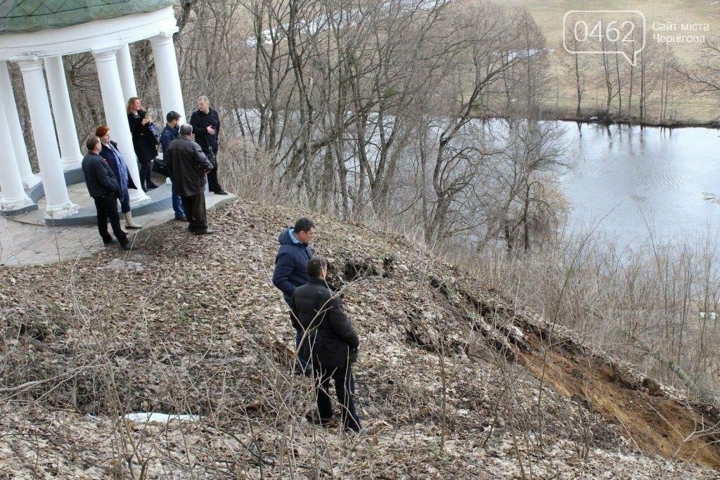 Альтанка Глибова в Черниговской области сползает в пропасть. Чиновники успокаивают, фото-4