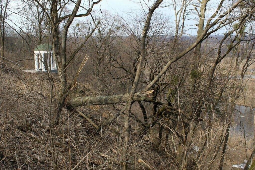 Альтанка Глибова в Черниговской области сползает в пропасть. Чиновники успокаивают, фото-1