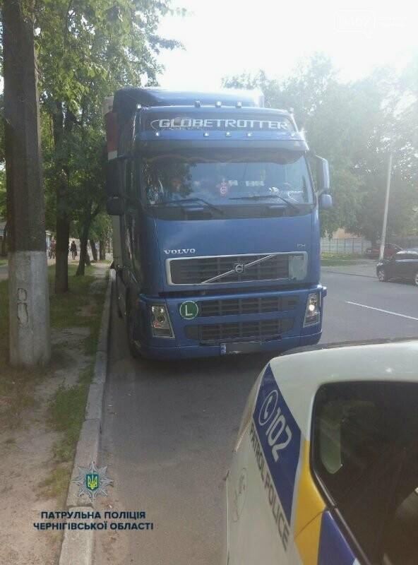Транзитную фуру, заехавшую в Чернигов, оштрафовали, фото-1