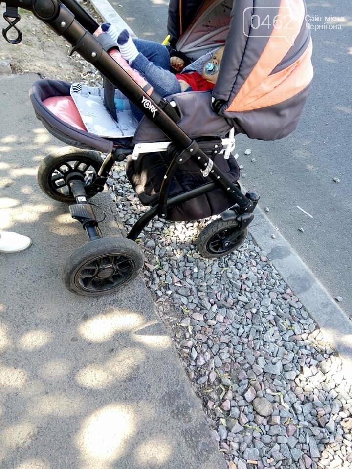 Чернігівські матусі невдоволені станом тротуарів та пішохідних переходів по місту, фото-2