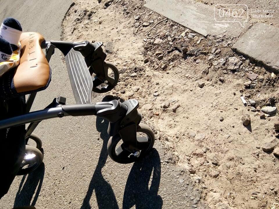 Чернігівські матусі невдоволені станом тротуарів та пішохідних переходів по місту, фото-7