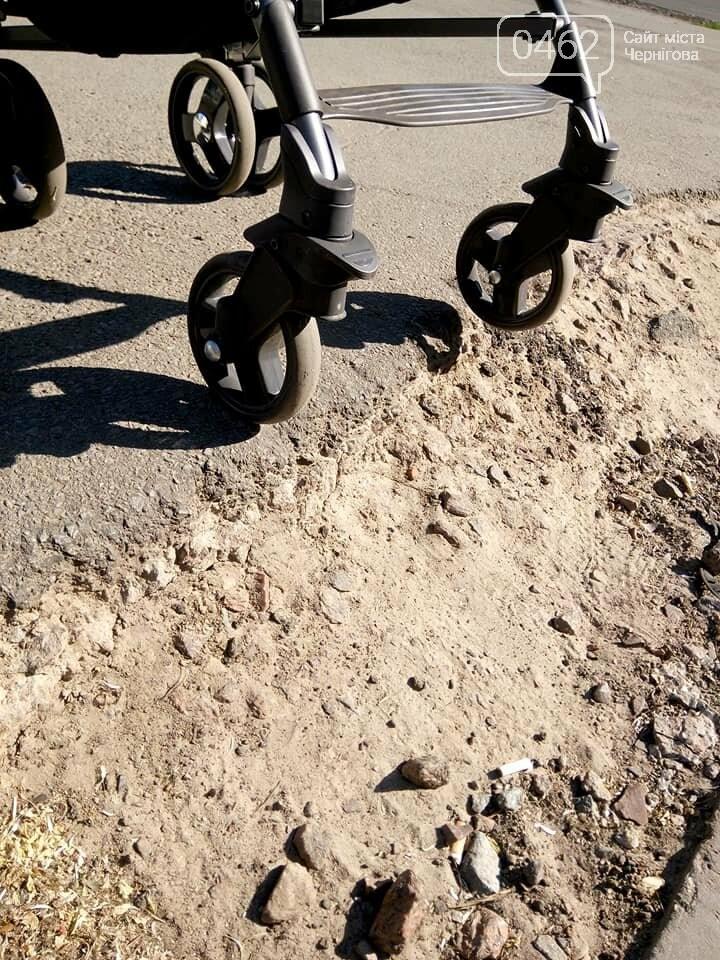 Чернігівські матусі невдоволені станом тротуарів та пішохідних переходів по місту, фото-9
