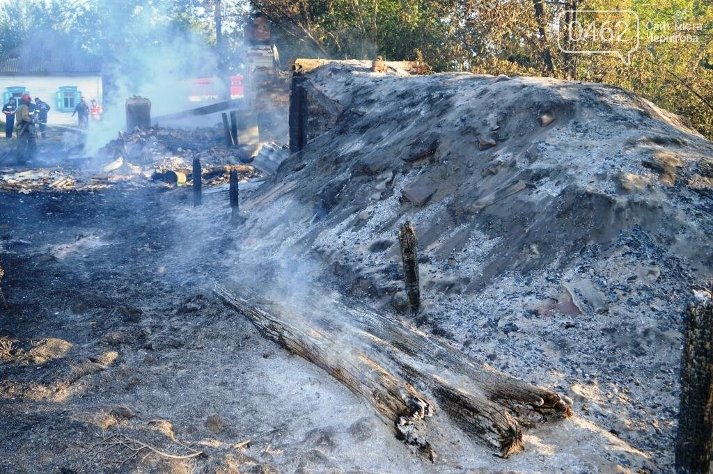 Масштабный пожар в Черниговской области: сгорело 4 дома и 9 сараев, фото-8