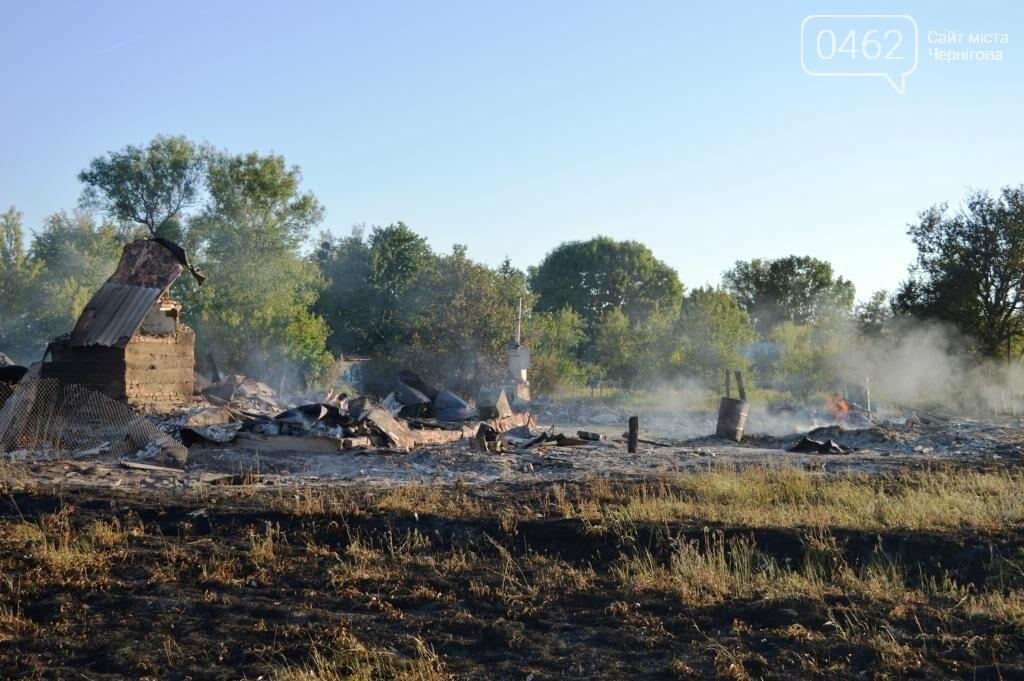 Масштабный пожар в Черниговской области: сгорело 4 дома и 9 сараев, фото-6