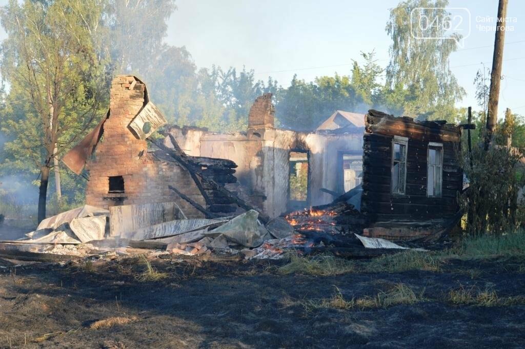 Масштабный пожар в Черниговской области: сгорело 4 дома и 9 сараев, фото-5