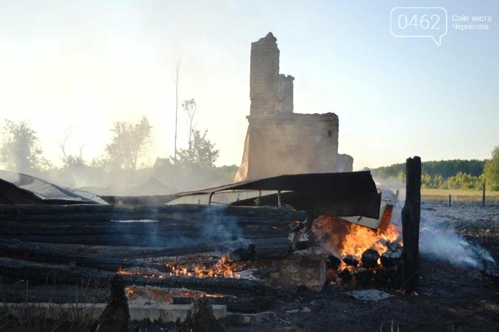 Масштабный пожар в Черниговской области: сгорело 4 дома и 9 сараев, фото-2
