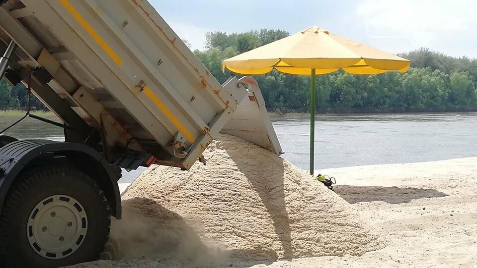 На главный пляж Чернигова начали привозить песок, фото-2