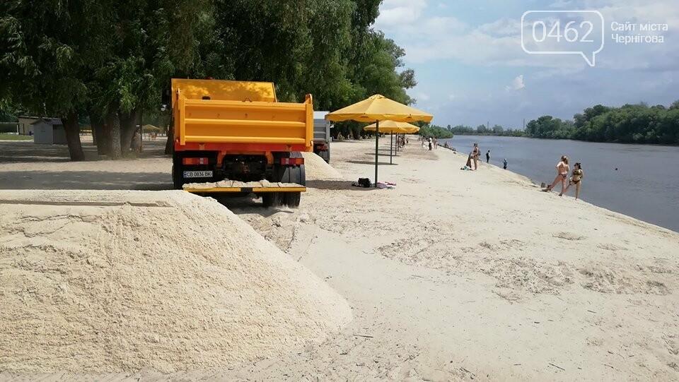 На главный пляж Чернигова начали привозить песок, фото-4