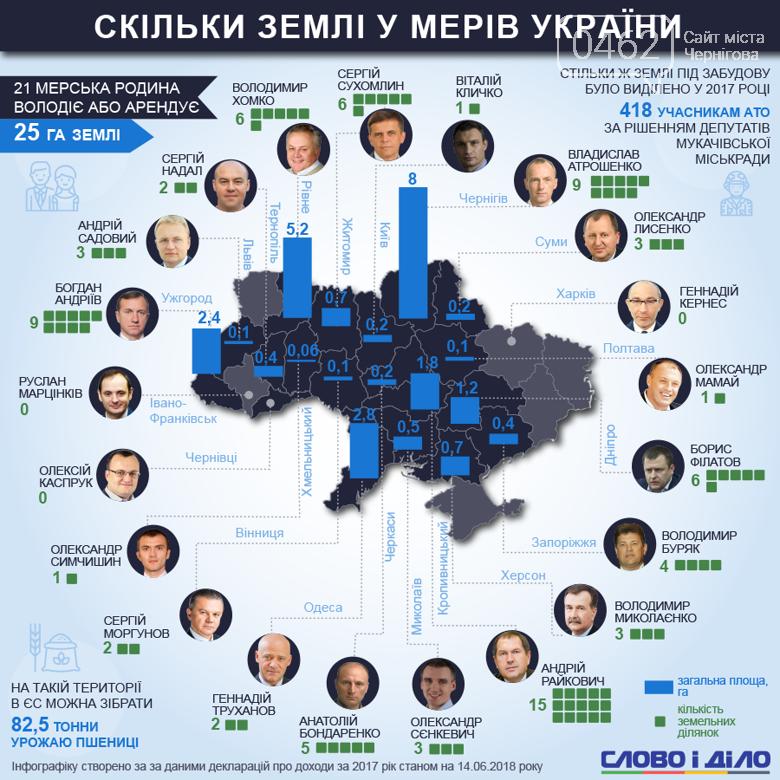 Мэр Чернигова – самый крупный землевладелец в кругу своих коллег, фото-1