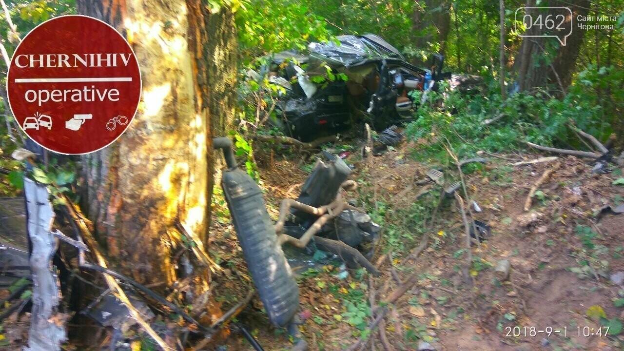 На Чернігівщині Range Rover з'їхав у кювет, є загиблі, фото-5