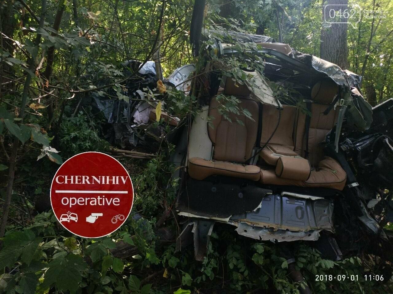 На Чернігівщині Range Rover з'їхав у кювет, є загиблі, фото-4
