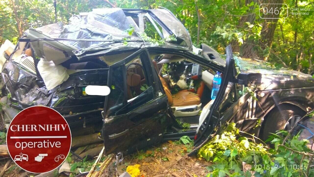 На Чернігівщині Range Rover з'їхав у кювет, є загиблі, фото-6