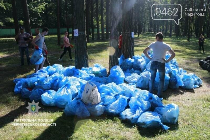 """До """"Всесвітнього дня прибирання"""" долучились чернігівські патрульні, фото-3"""