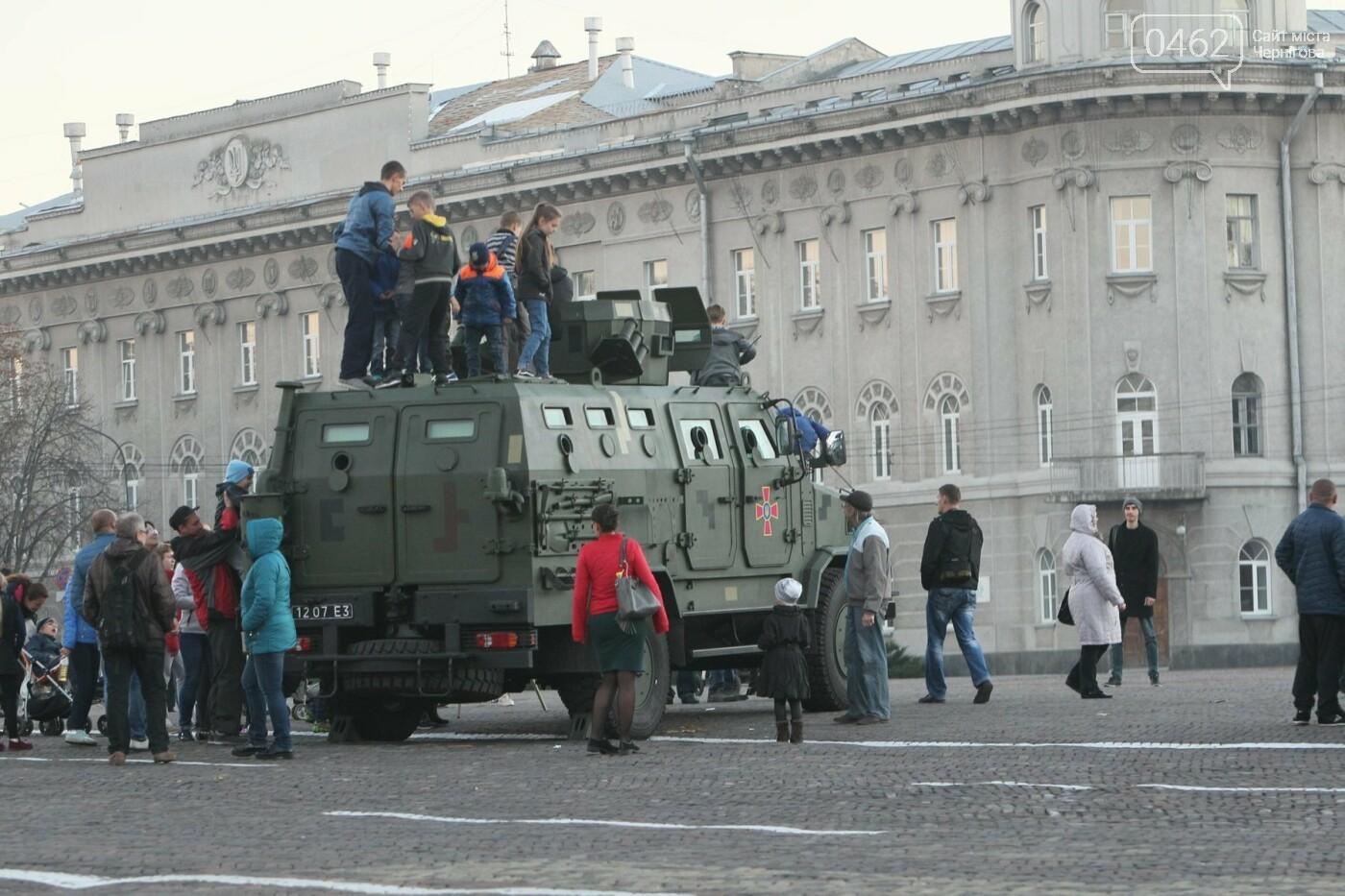 У Чернігові відбулась виставка військової техніки до Дня захисника України, фото-6