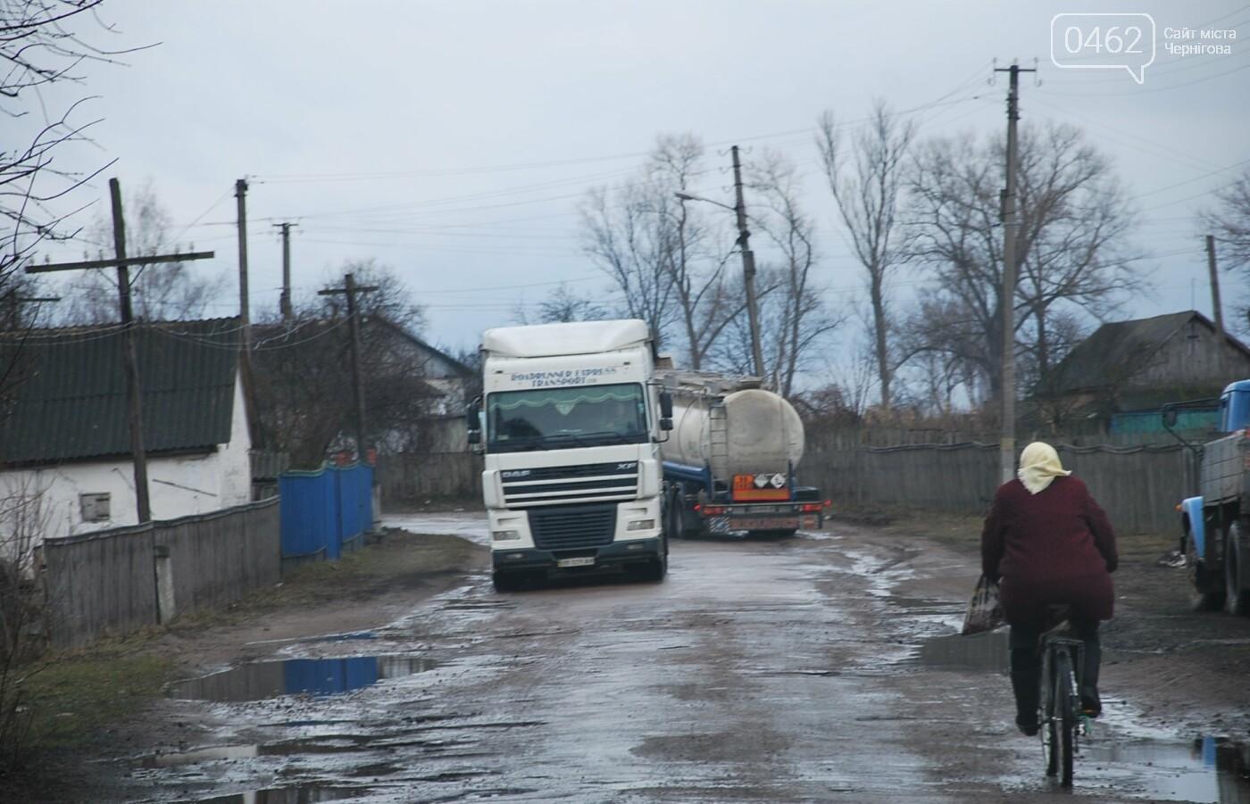 Фуры разрушают дорогу в Черниговской области. С ними будут бороться габаритными рамками, фото-2