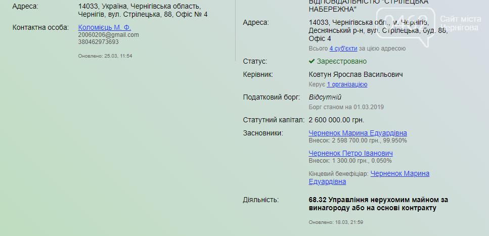 Фірма, пов'язана з депутатами Чернігівської міськради, виграла тендер на проектні роботи щодо реконструкції зеленої зони Стрижня, фото-1
