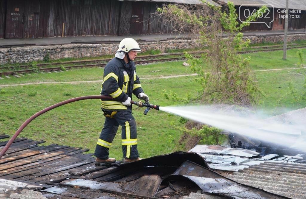У Чернігові сталася пожежа на території обласного вузлу спецзв'язку, фото-2