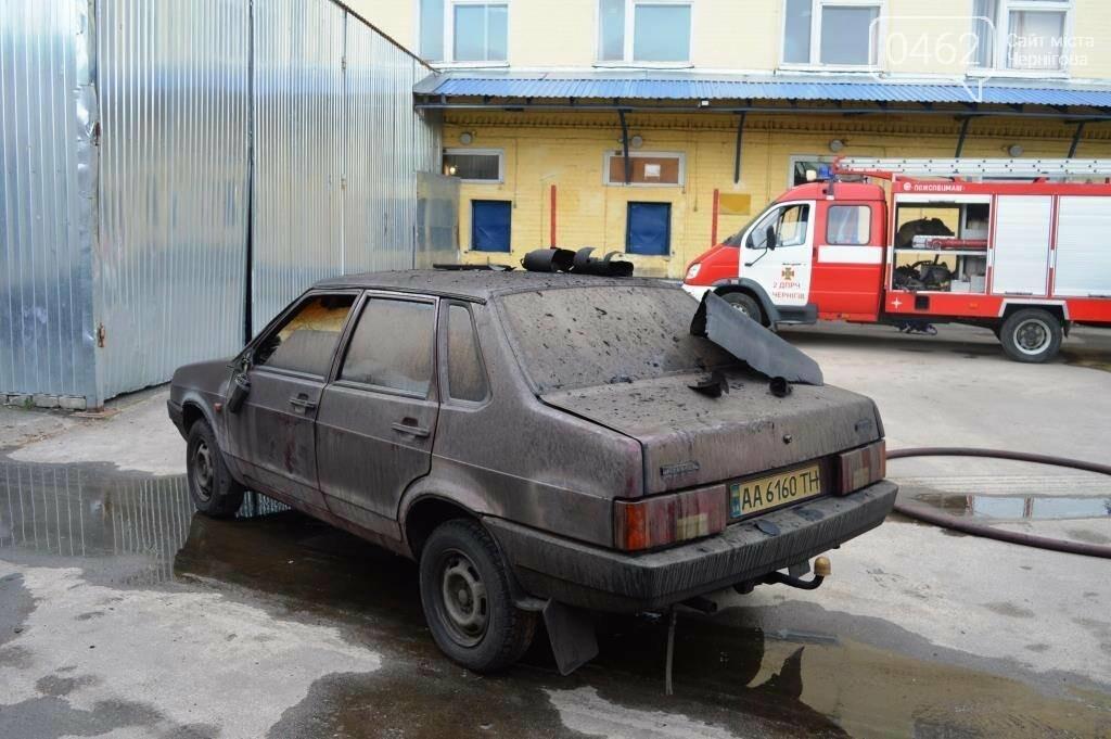 У Чернігові сталася пожежа на території обласного вузлу спецзв'язку, фото-8