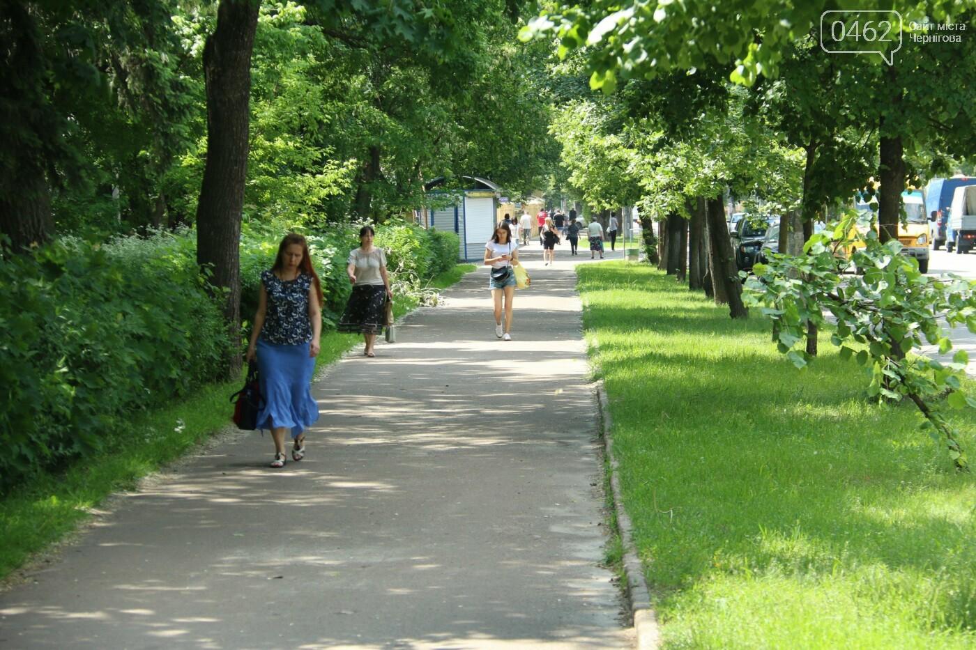 У Чернігові розпочався ремонт тротуарів на вулиці Шевченка, фото-8