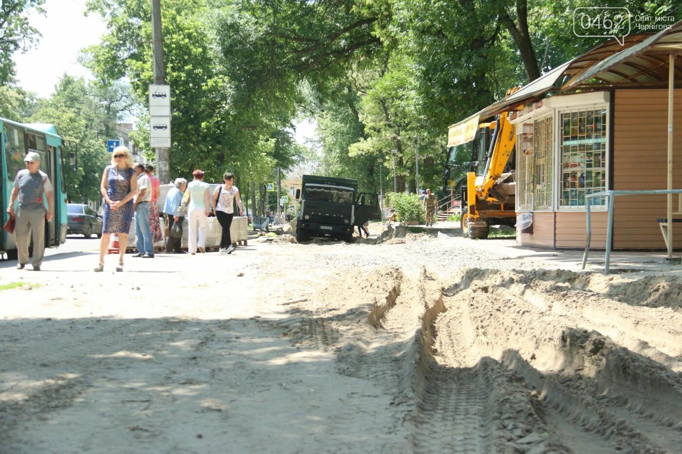 У Чернігові розпочався ремонт тротуарів на вулиці Шевченка, фото-20