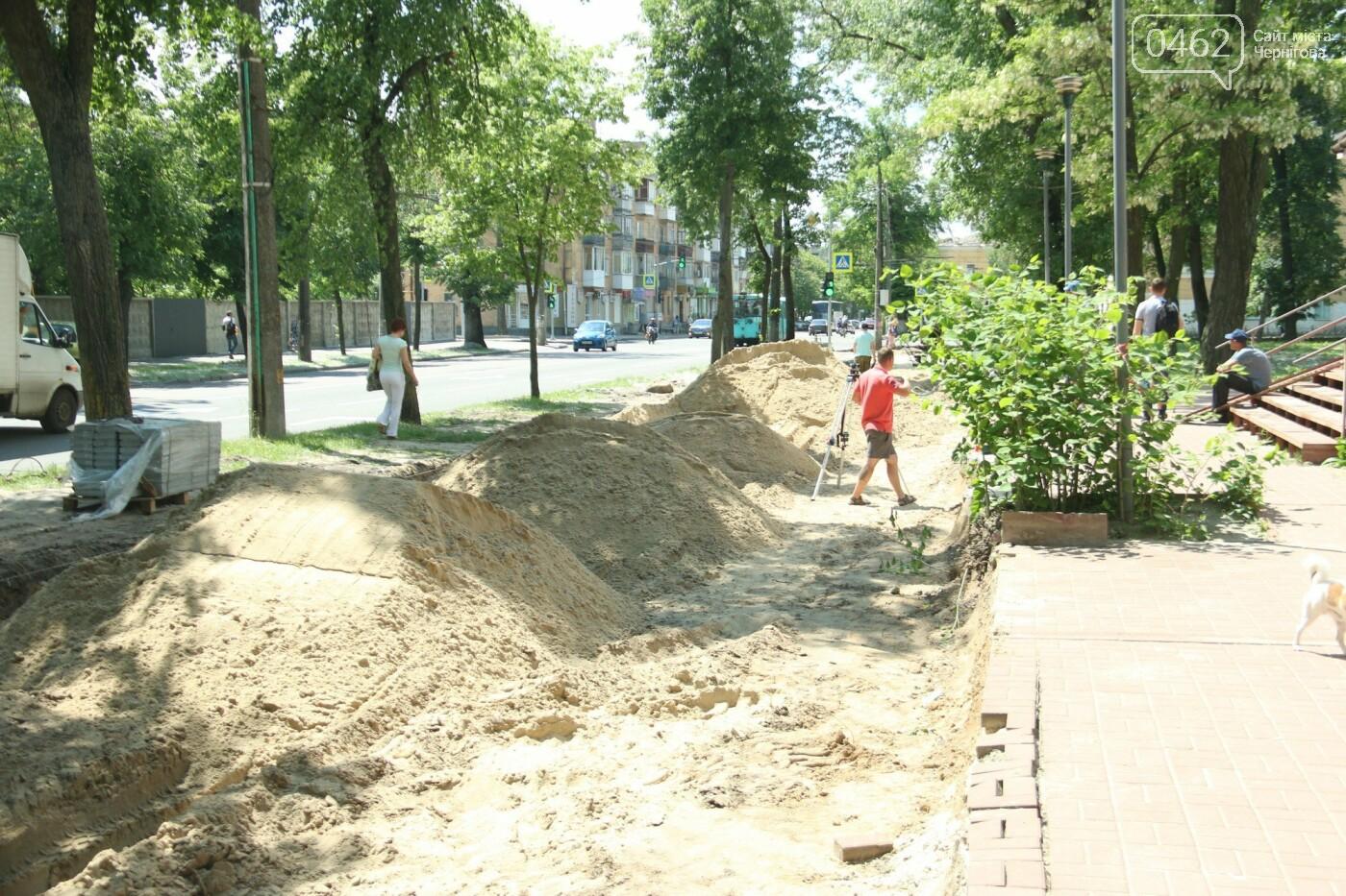 У Чернігові розпочався ремонт тротуарів на вулиці Шевченка, фото-21