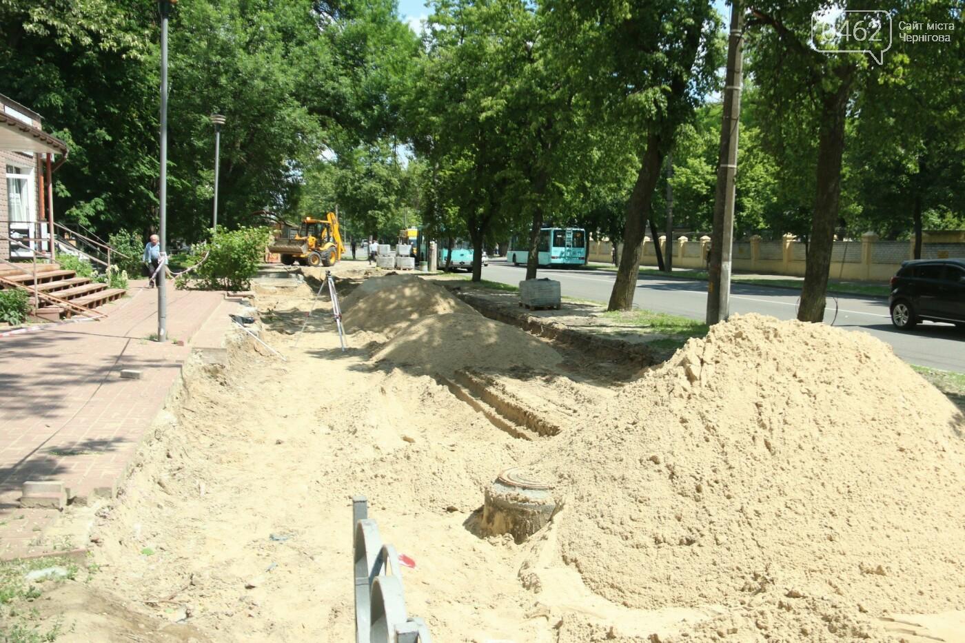 У Чернігові розпочався ремонт тротуарів на вулиці Шевченка, фото-23