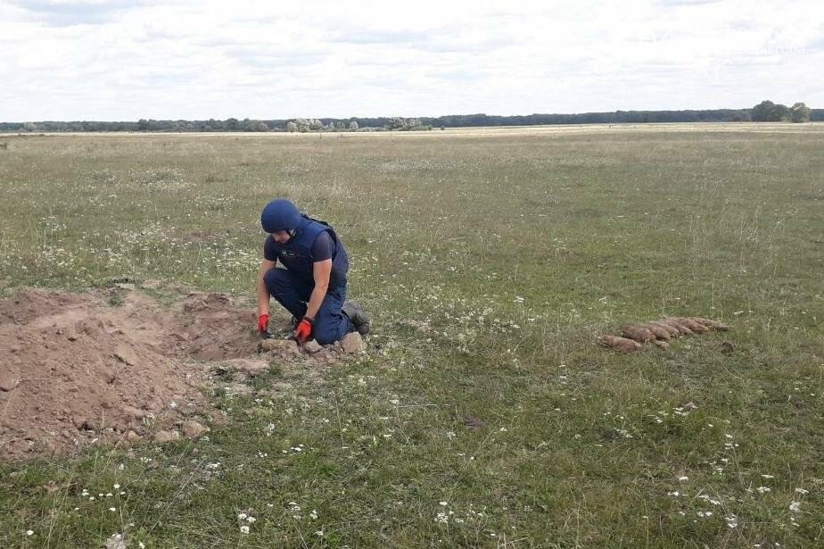 На Черниговщине уничтожили 11 снарядов времен Второй мировой войны, фото-1