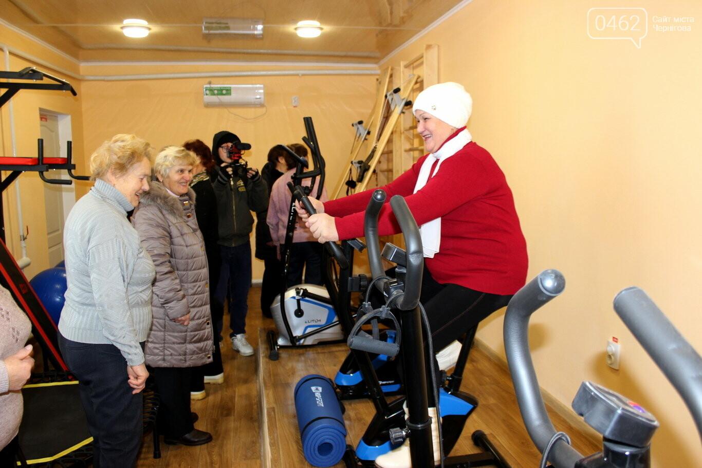 Тренажерний зал для пенсіонерів відкрили в Чернігівській області, фото-1