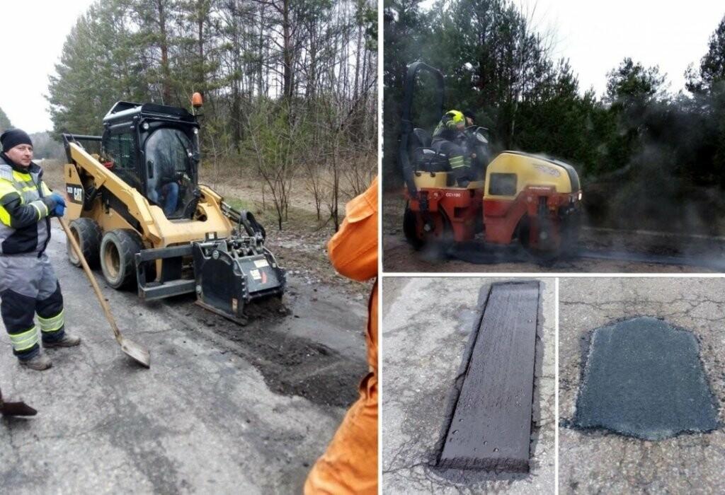 Чернігівські дорожники ліквідовують ями на трасах і в січні, фото-1