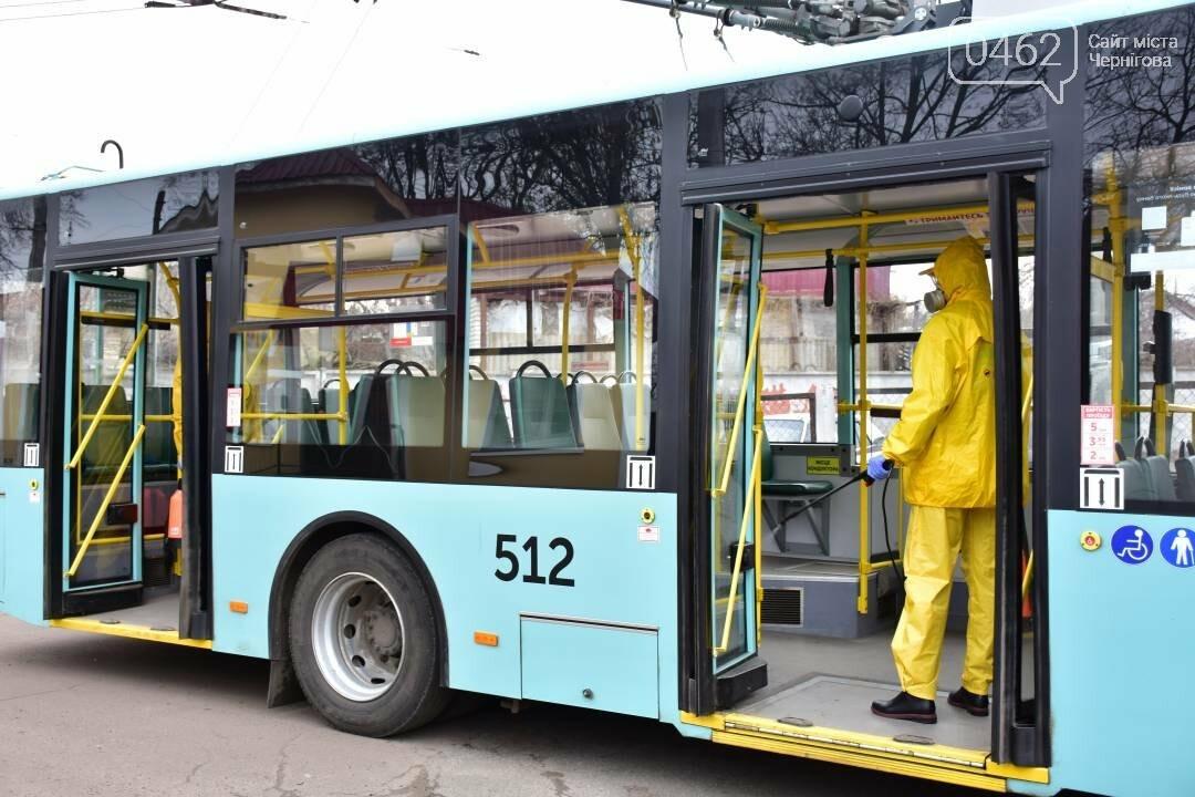 Коронавірусу - бій: у Чернігові  розпочали дезинфекцію громадського транспорту, фото-7