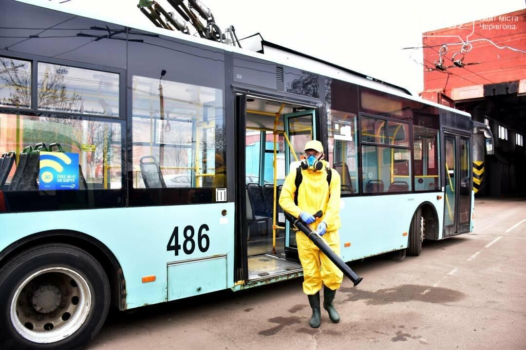 Коронавірусу - бій: у Чернігові  розпочали дезинфекцію громадського транспорту, фото-8