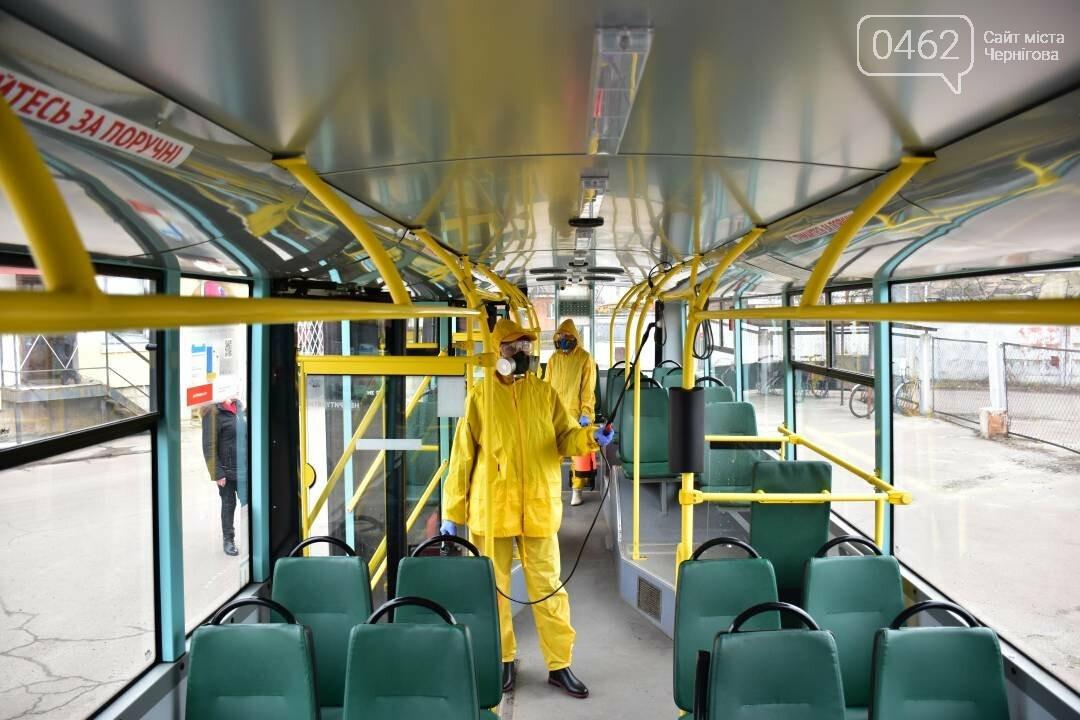 Коронавірусу - бій: у Чернігові  розпочали дезинфекцію громадського транспорту, фото-6