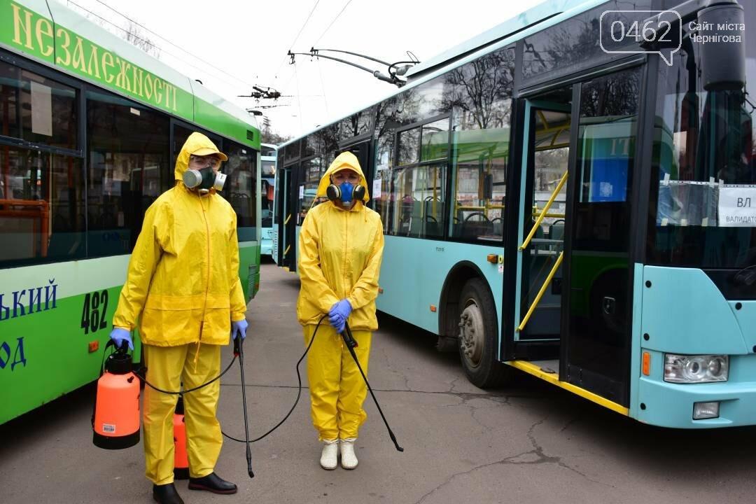 Коронавірусу - бій: у Чернігові  розпочали дезинфекцію громадського транспорту, фото-1