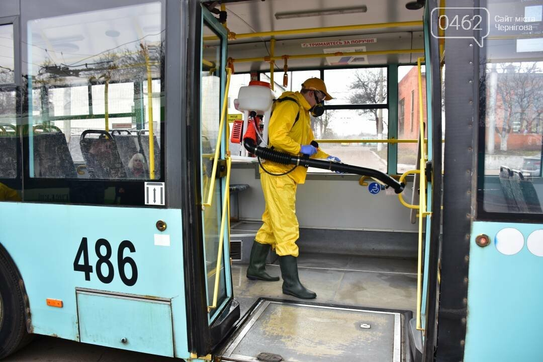 Коронавірусу - бій: у Чернігові  розпочали дезинфекцію громадського транспорту, фото-5