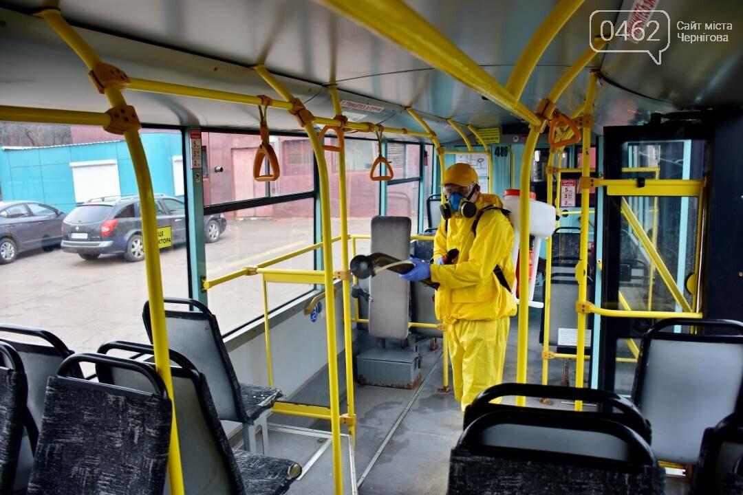 Коронавірусу - бій: у Чернігові  розпочали дезинфекцію громадського транспорту, фото-3