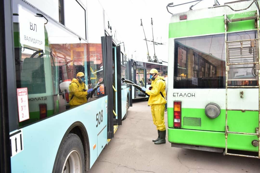 Коронавірусу - бій: у Чернігові  розпочали дезинфекцію громадського транспорту, фото-4
