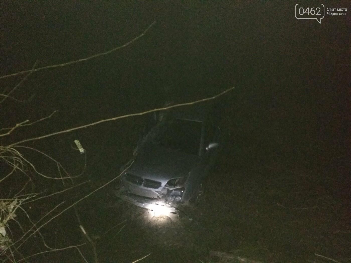 П'яний водій на Чернігівщині вилетів у русло річки: є потерпілі, фото-2