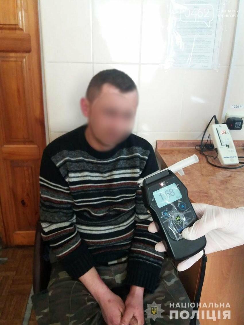 Заробив штраф: під Черніговом п'яний водій з'їхав у кювет, фото-1