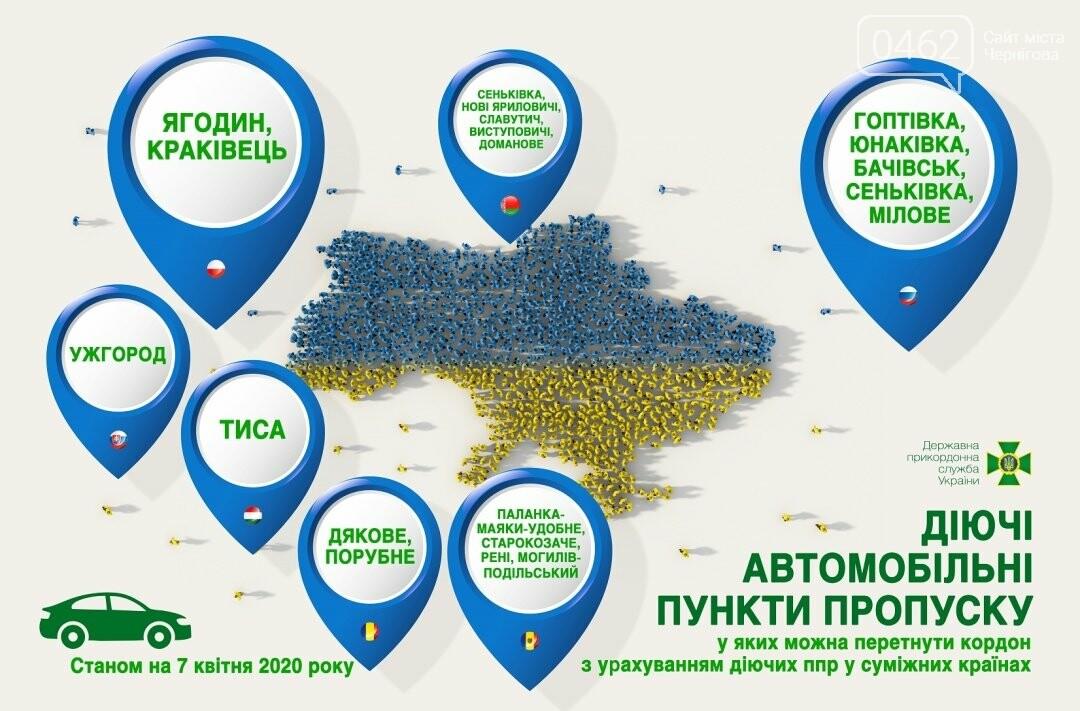 В Україні відкритими залишиться 19 пунктів пропуску на кордоні. З них 4 – в Чернігівській області, фото-1